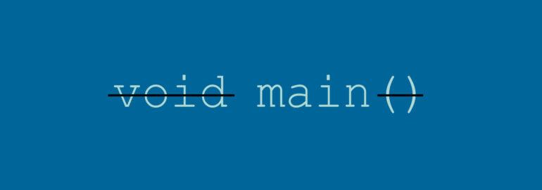 Обложка: Обычно main — это функция. Но всегда ли это так?
