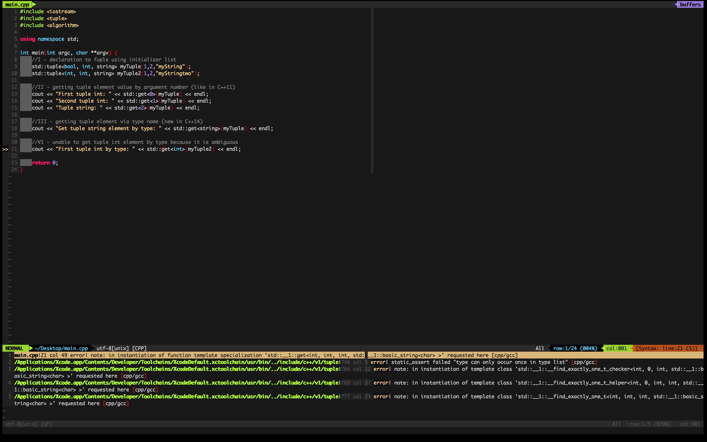 Screenshot - syntastic 3 - errors
