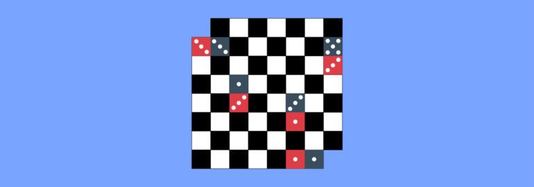 Обложка: Логическая задача на расставление костей домино на шахматной доске