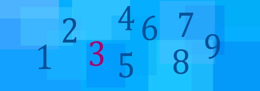 Обложка: У скольких целых чисел, лежащих в диапазоне от 1 до 1000, есть цифра 3?