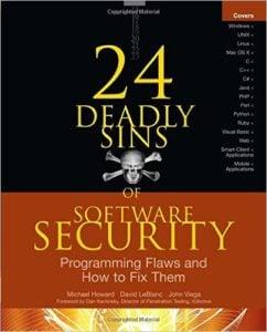 Обложка книги «24 Deadly Sins of Software Security»