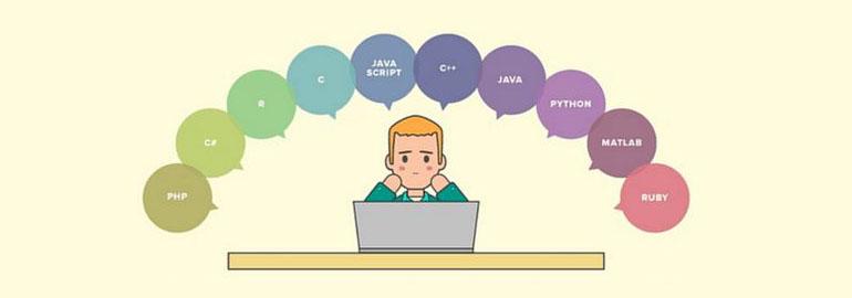 Логотип «Какой язык программирования лучше выбрать первым для изучения новичку?»