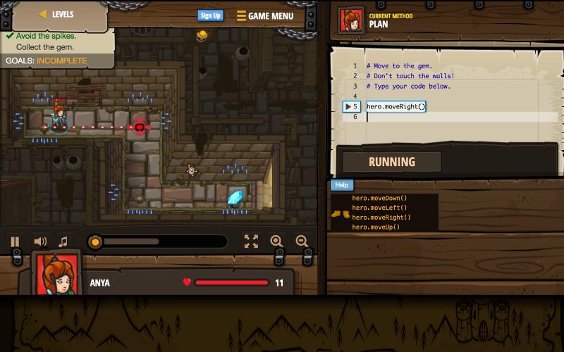 скриншот игры Code Combat