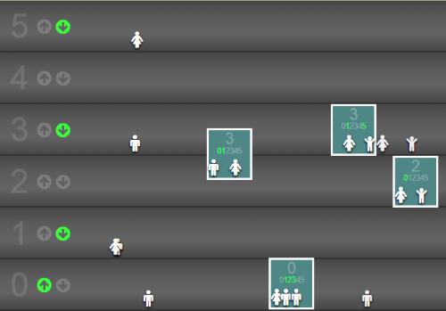 скриншот игры Elevator Saga