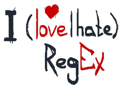 I love or hate regex
