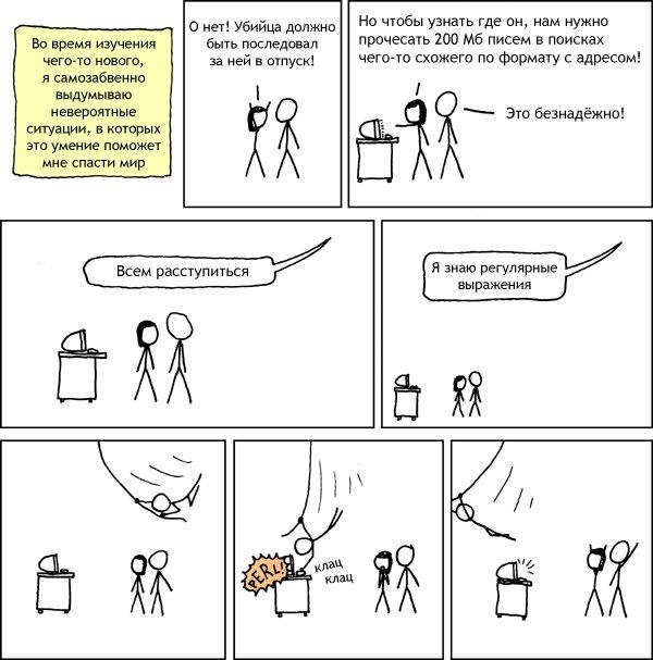 Комикс про регулярные выражения с xkcd.ru