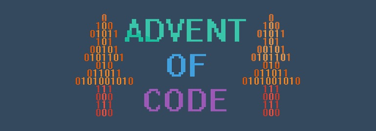 Логотип «1 декабря стартует рождественская головоломка Advent of Code»