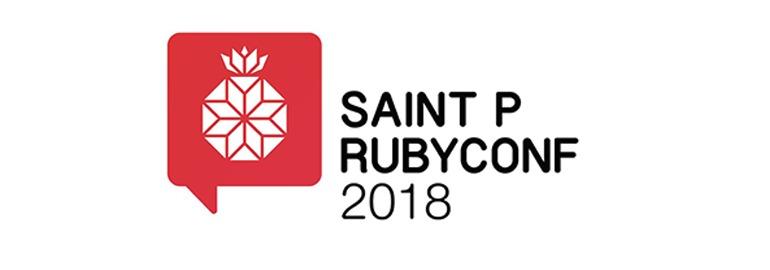 Логотип «10 июня в Санкт-Петербурге состоится конференция Saint P Rubyconf 2018»