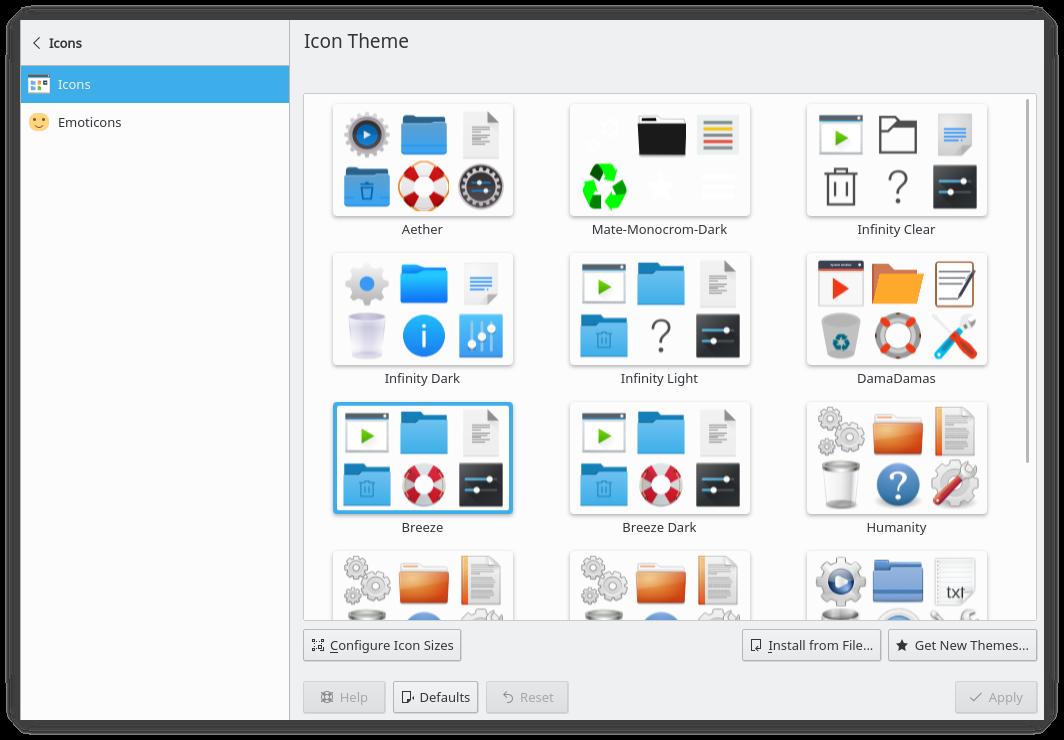 Plasma 5.13 icon theme