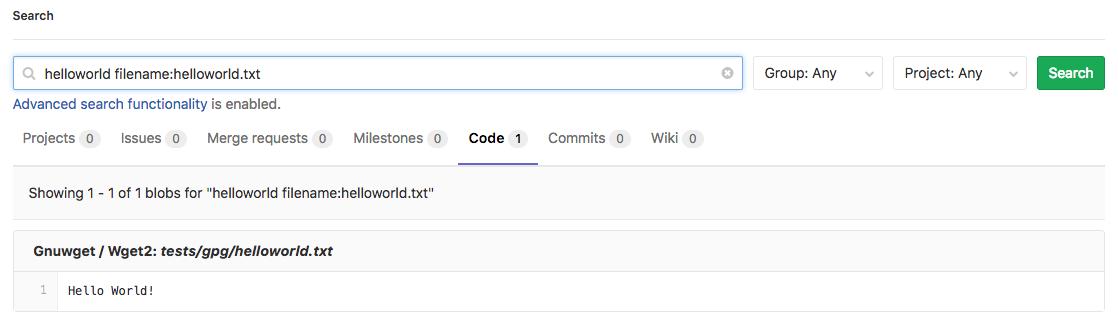 GitLab search improvements