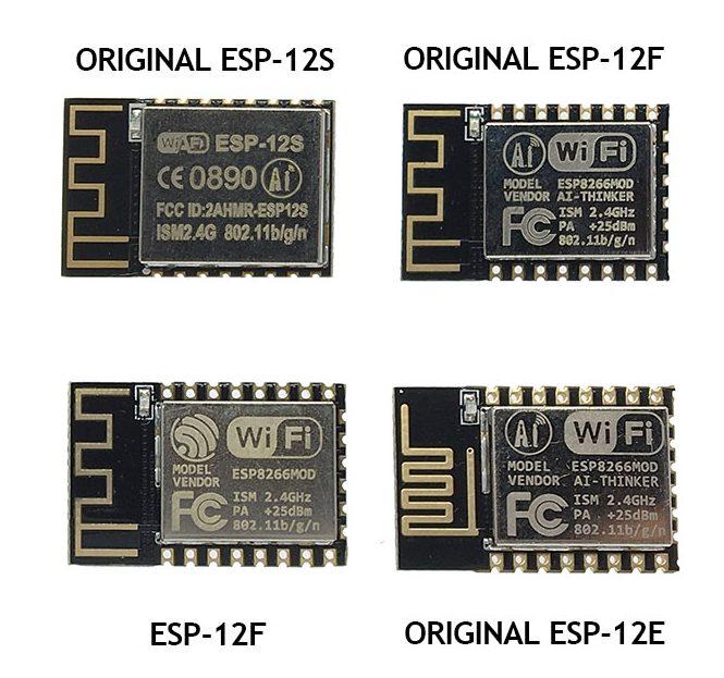 Разные варианты микроконтроллера ESP-12