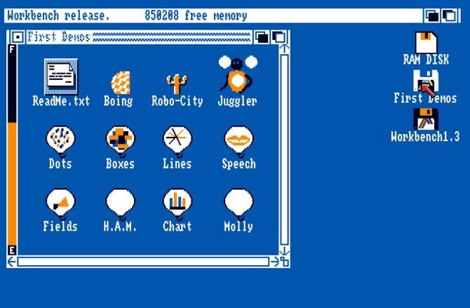 Операционная система Amiga 500