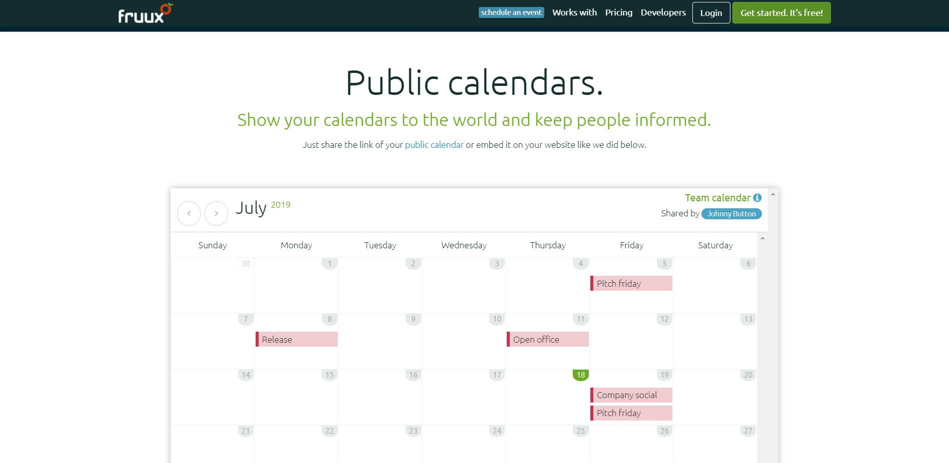 Замена Google Календарь - fruux