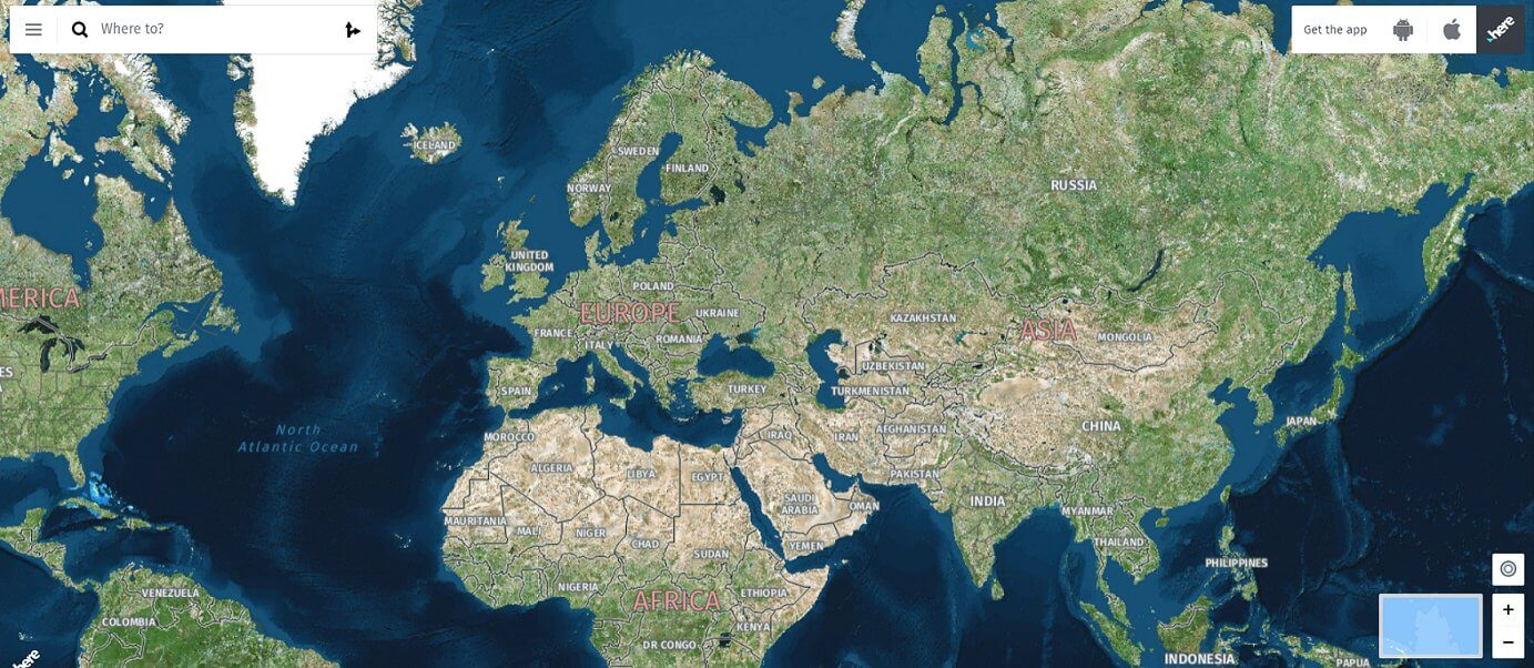 Замена Google Карты - Here WeGo