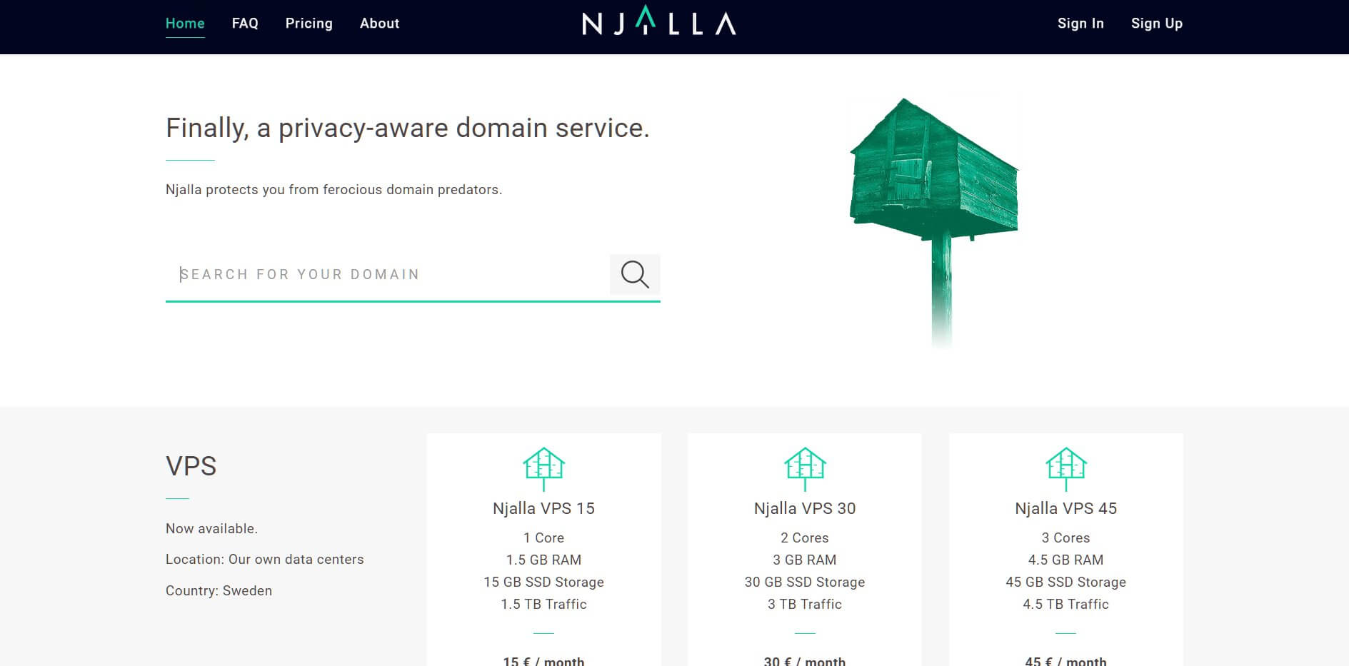 Замена Google Domains - Njalla