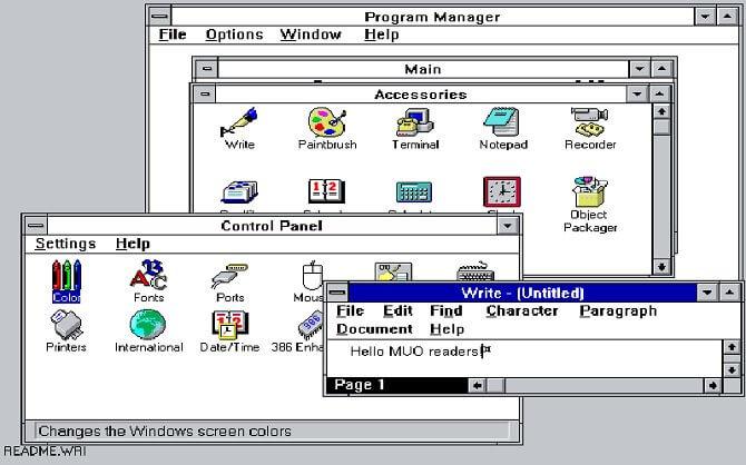 Операционная система Windows 3.1