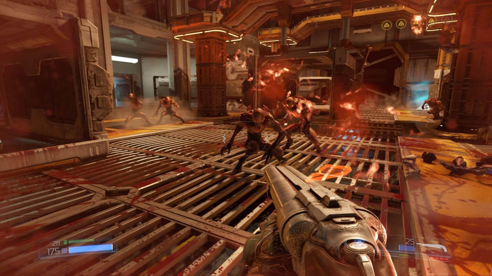 Кадр из игры DOOM