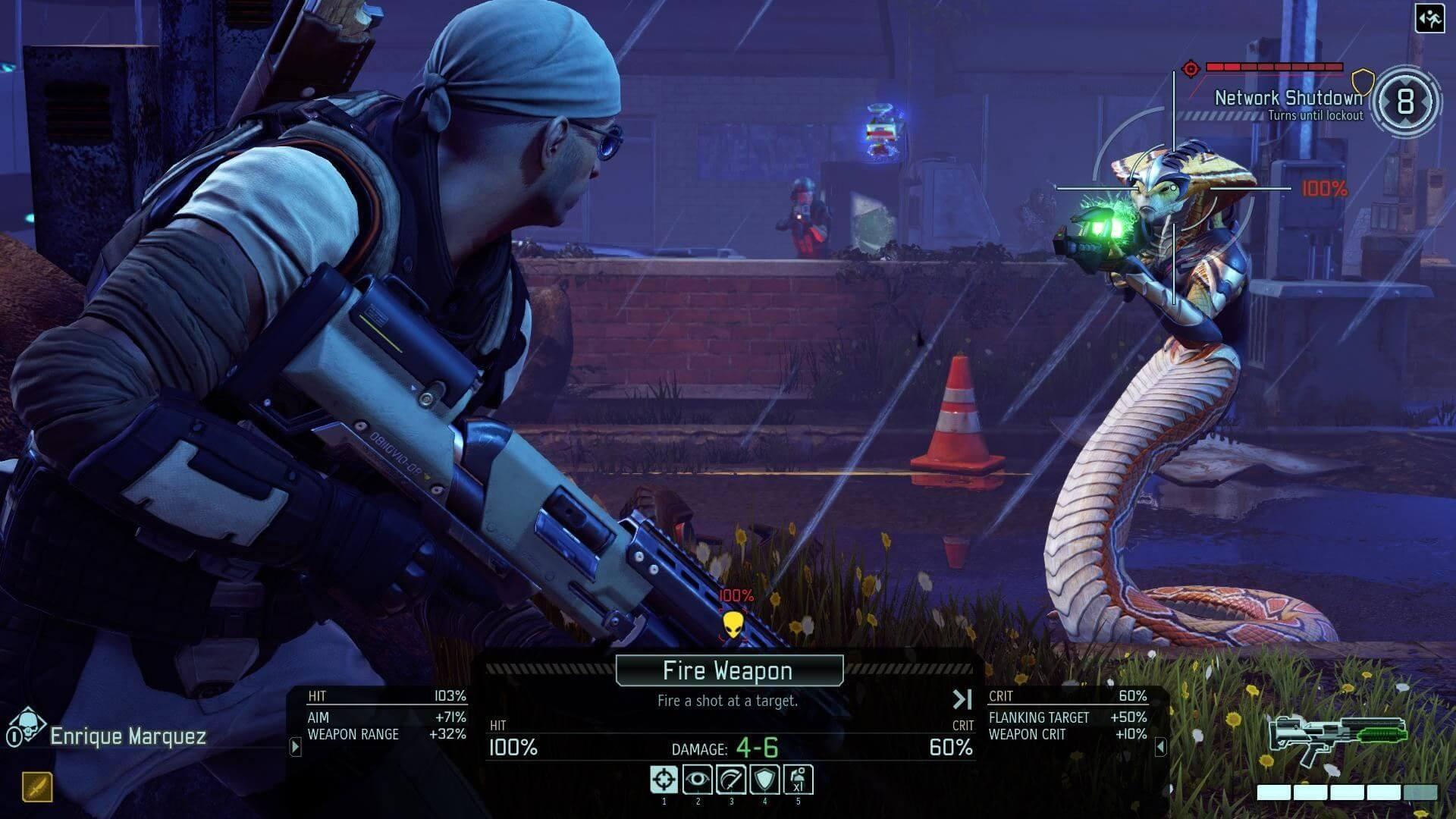Кадр из игры X-COM
