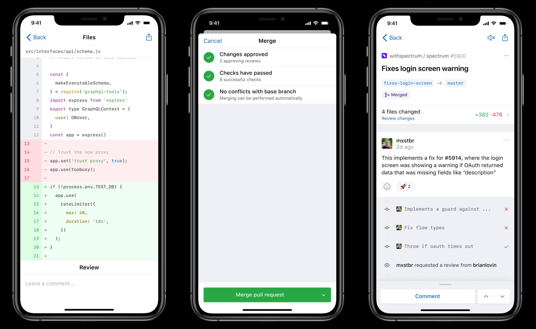 Мобильная версия GitHub