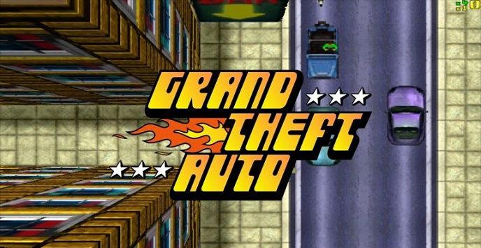 Скриншот с логотипом Grand Theft Auto