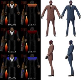 Модели шпиона, появившегося благодаря багу в игре Team Fortress