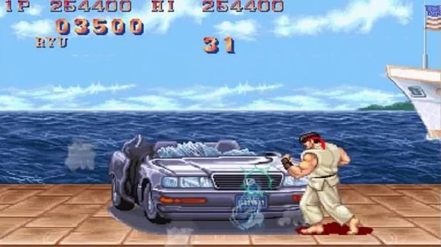 Бонусный уровень, где нашли баг в игре Street Fighter 2